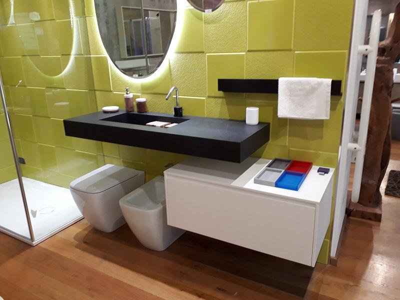Arredo bagno in pronta consegna composizione da bagno edone modello eos vetrina offerte - Composizione piastrelle bagno ...